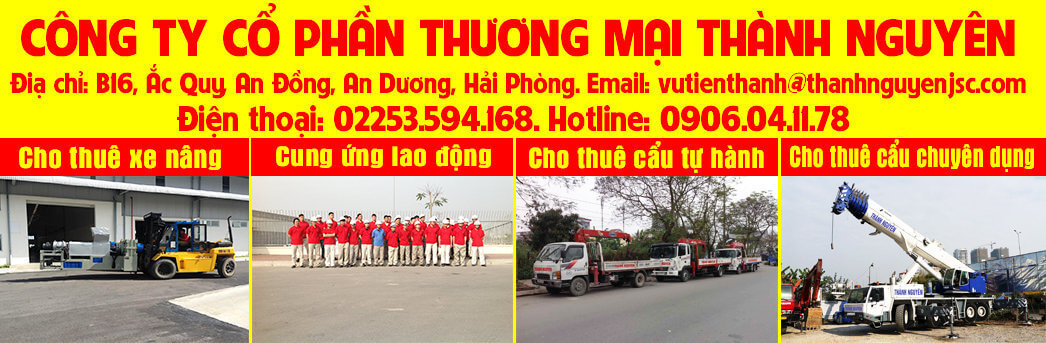 Dịch vụ xe nâng Hải Phòng, thuê xe cẩu Hải Phòng, thuê xe nâng hạ